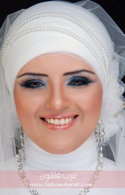 مكياج طرحة العروس دينا سلام