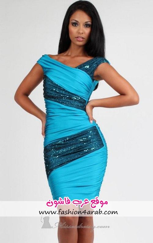 Красивые платья голубого цвета 2