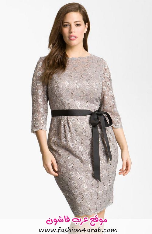 33a141351a198 اليكي هذه المجموعة من الفساتين القصيرة لسهره مميزة لصاحبات المقاسات الكبيرة  PLUS-SIZE شاهدي المجموعة و اخبرينا رأيك