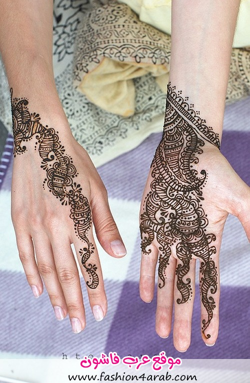 صور رسم حنه http://www.fashion4arab.com/2013/02/14/hannah-and-tattoos-bride-2013/