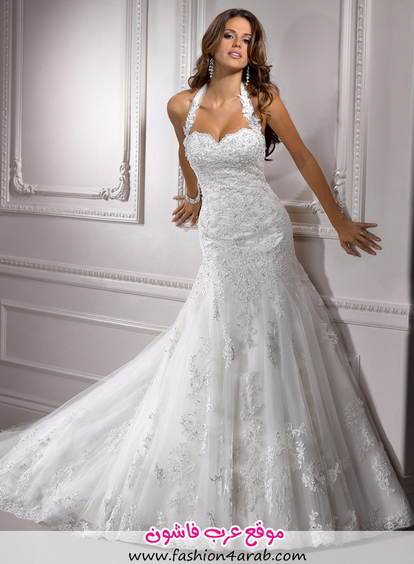lace on tulle Wedding Dresses 2013-0