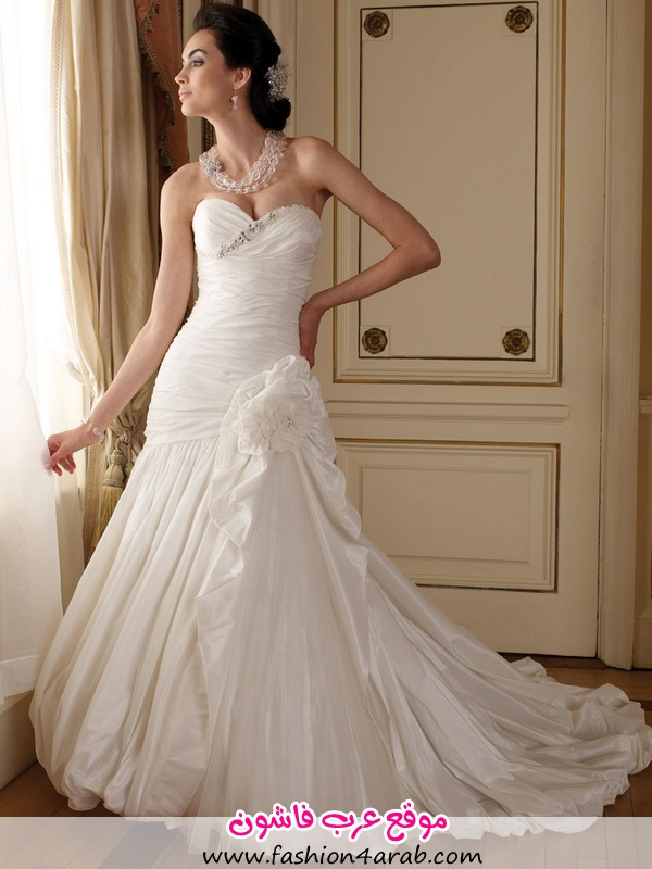 perfect-strapless-sweetheart-ball-gown-winter-wedding-dress-2012-with-side-split-skirt