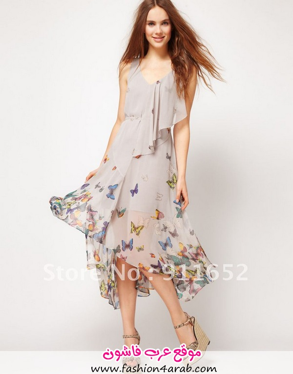 2012-warehouse-butterfly-print-sleeveless-ruffle-chiffon-maxi-bohemian-one-piece-long-dress-FreeShipping