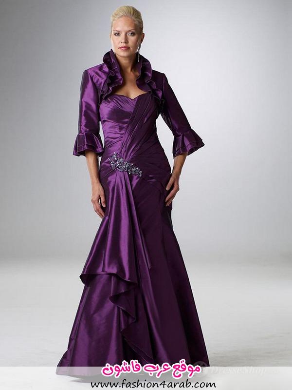 A-line-Sweetheart-Purple-Beading-Elastic-Woven-Satin-3-4-Length-Floor-length-Dress