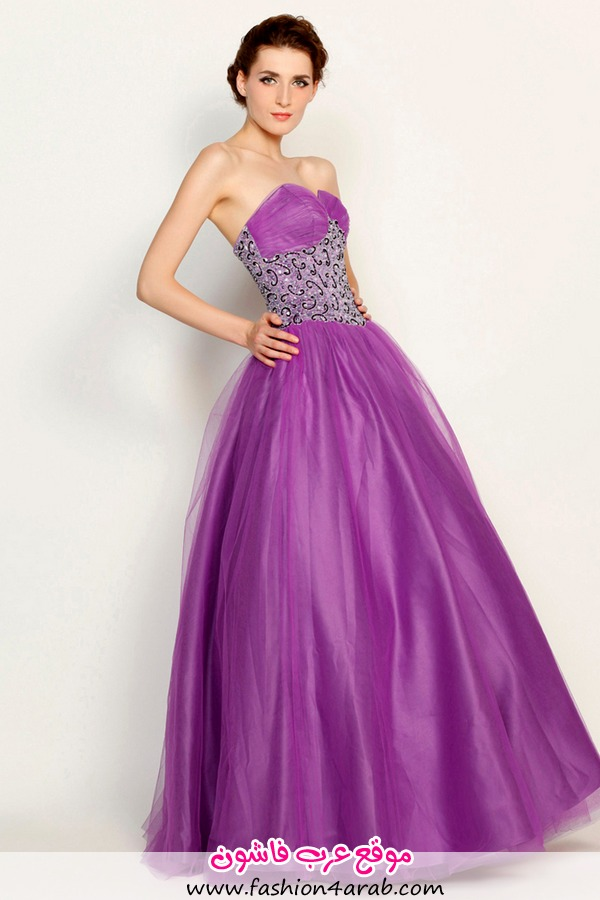 Eye-Catching-Ball-Gown-Purple-Sequined-Sweetheart-Wedding-Dresses-DS0063