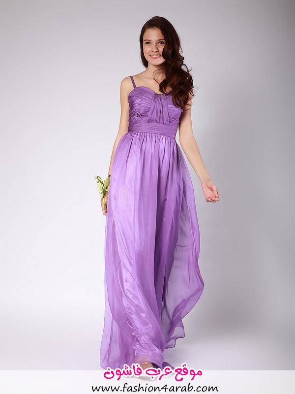 Pleated Spaghetti Straps Purple Bridesmaid Dresses for Wedding@1