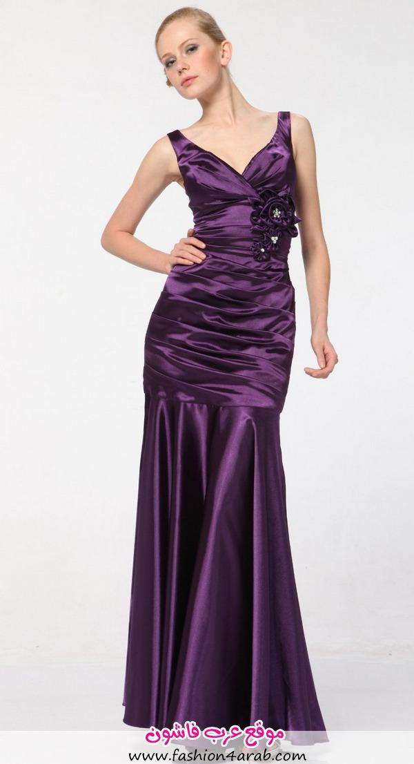 Satin-dark-purple-bridesmaid-dresses