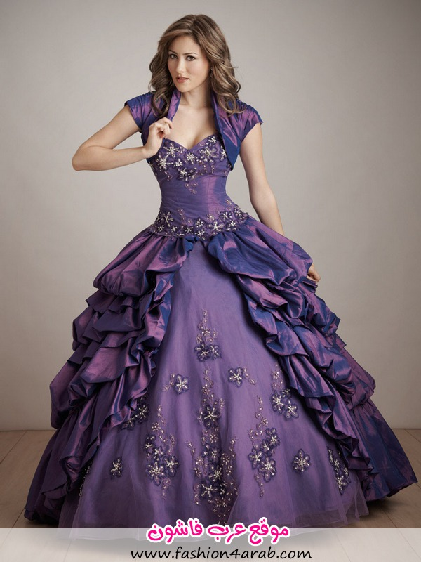 ball-gown-purple-strapless-sweetheart-layered-embroidery-drape-prom-dress-with-applique