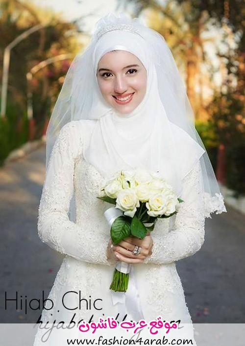 اجمل فساتين زفاف المحجبات