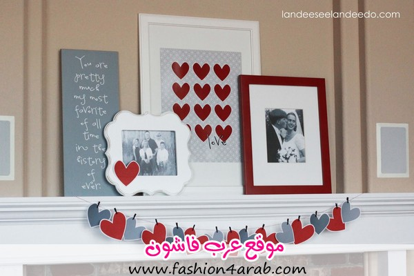 valentine+mantel+decor