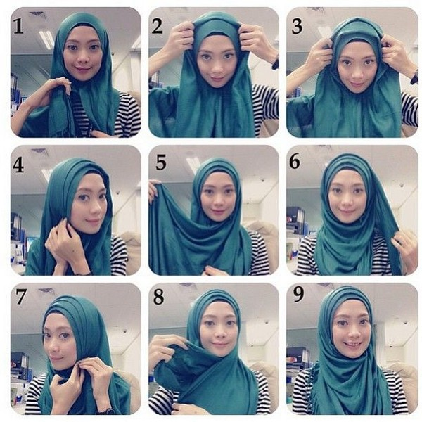 Hijab Styles Step By Step Simple The Image Kid Has It