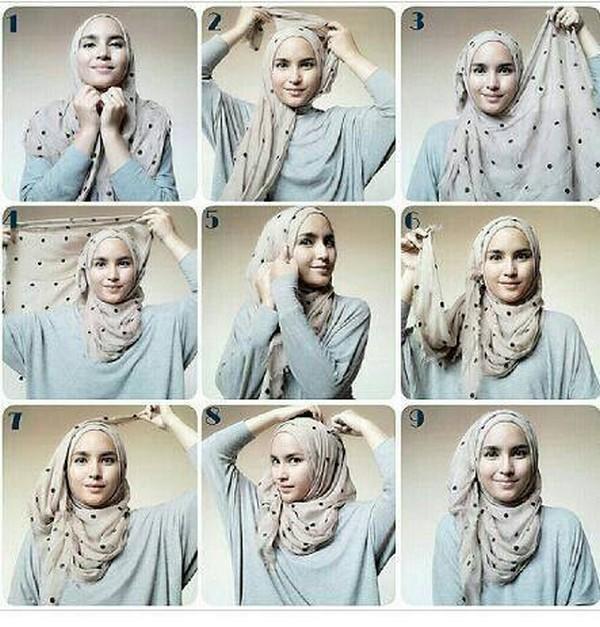 طرق لف الحجاب بالصور