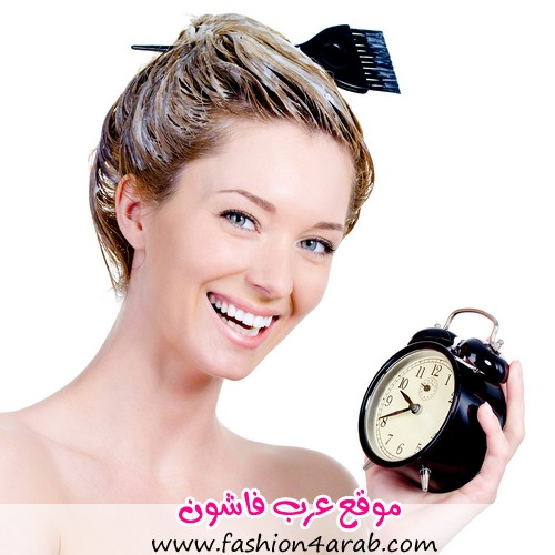 woman-hair-dye-coloring-clock