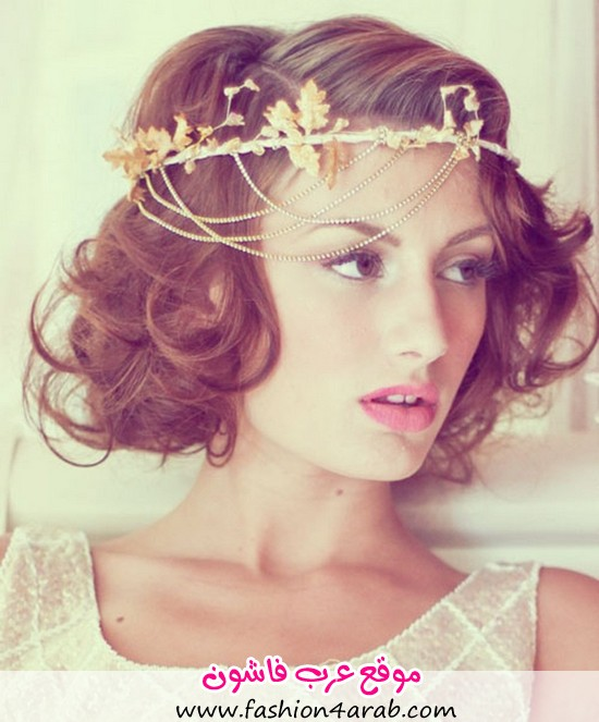 Short-Curly-Bridal-Hairstyles