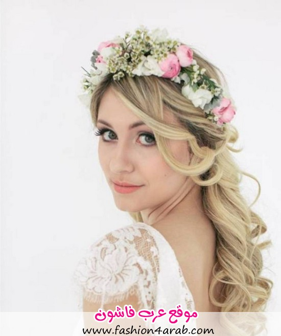 long-curly-hairstyles-for-wedding-with-flower-accessories