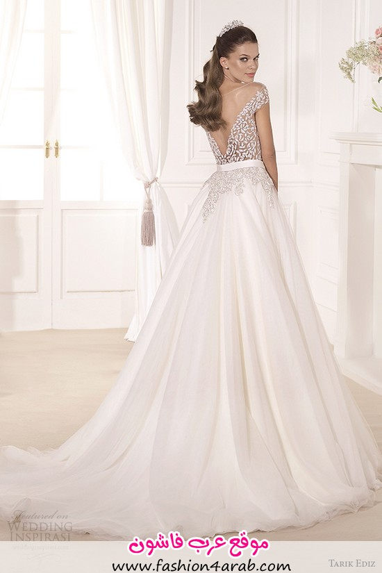 tarik-ediz-2014-bridal-collection-off-the-shoulder-sweetheart-a-line-wedding-dress-back-gul