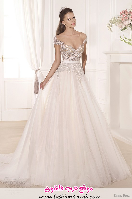 tarik-ediz-2014-bridal-collection-off-the-shoulder-sweetheart-a-line-wedding-dress-gul