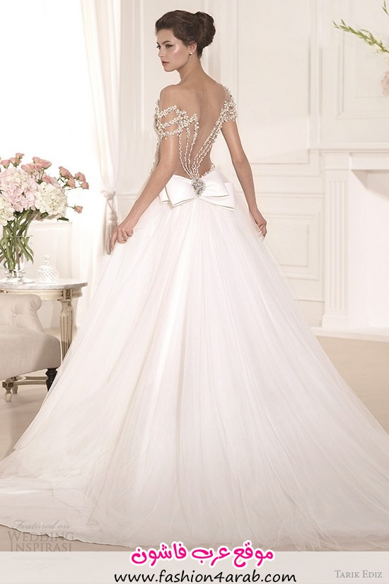 tarik-ediz-2014-bridal-collection-off-the-shoulder-sweetheart-a-line-wedding-dress-inci-back