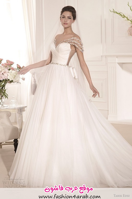 tarik-ediz-2014-bridal-collection-off-the-shoulder-sweetheart-a-line-wedding-dress-inci