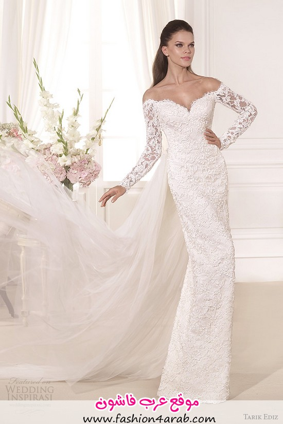 tarik-ediz-2014-bridal-collection-off-the-shoulder-sweetheart-sheath-wedding-dress-kardelen