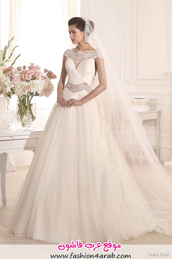 tarik-ediz-2014-bridal-collection-scoop-a-line-wedding-dress-1-akasya-g1120