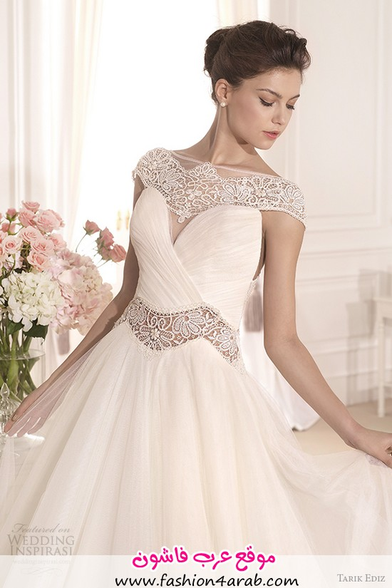 tarik-ediz-2014-bridal-collection-scoop-a-line-wedding-dress-front-view-zoom-akasya-g1120