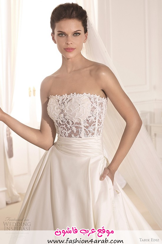 tarik-ediz-2014-bridal-collection-strapless-straight-across-a-line-pockets-front-zoom-fulya-g1130