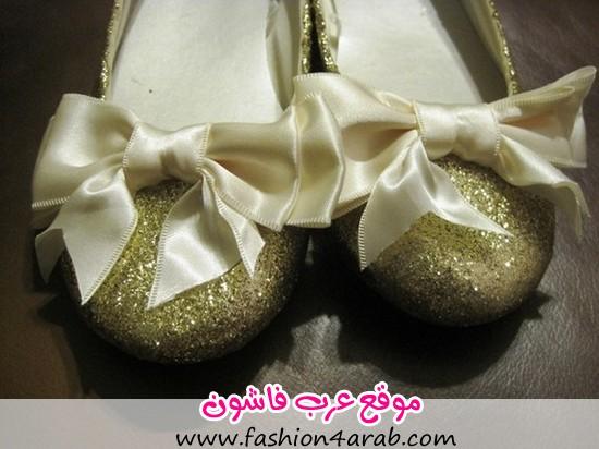 ballet-flats-bow-etsy-glitter-gold-Favim.com-191062