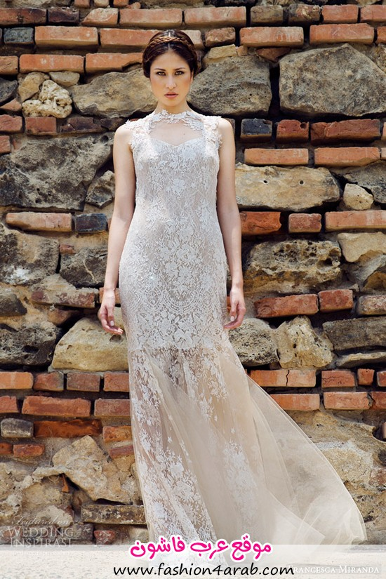 francesca-miranda-bridal-fall-2014-antoinette-sleeveless-wedding-dress-front-view