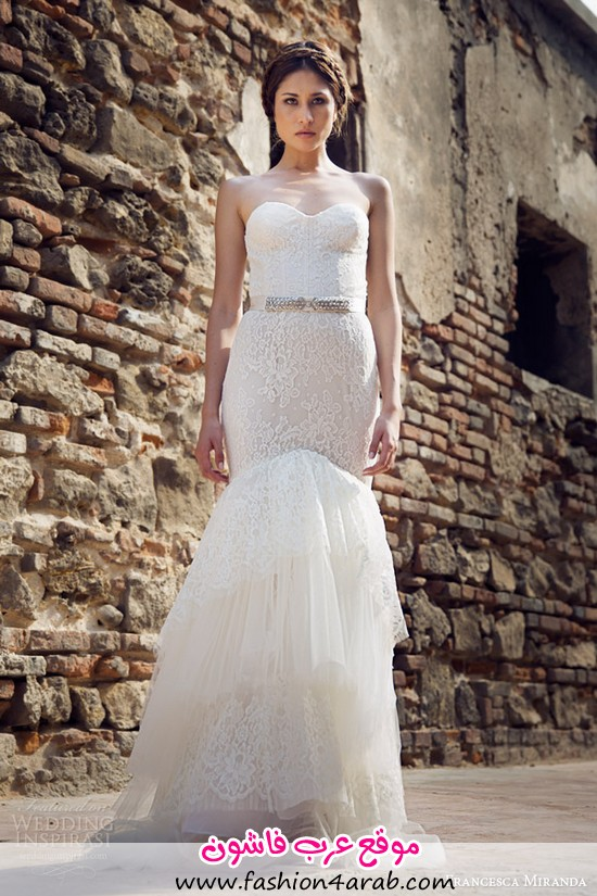 francesca-miranda-bridal-fall-2014-jolie-strapless-mermaid-wedding-dress