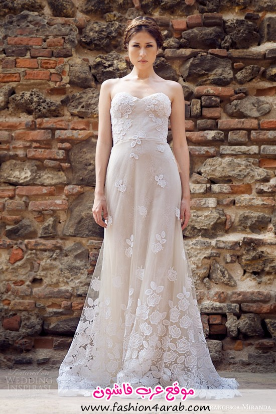 francesca-miranda-bridal-fall-2014-strapless-wedding-dress-allure-front