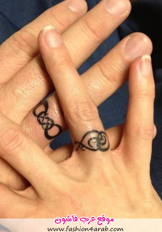 infinity-wedding-ring-tattoos-designs