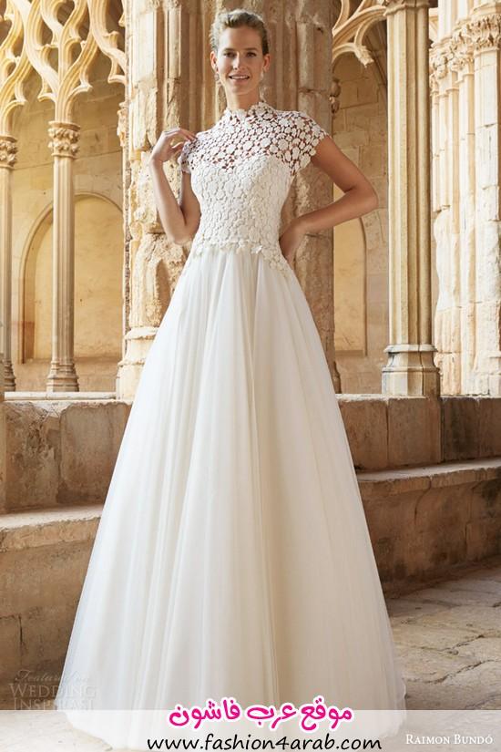 raimon-bundo-2015-natural-bridal-collection-musica-cap-sleeve-wedding-dress-high-neck-lace-bodice