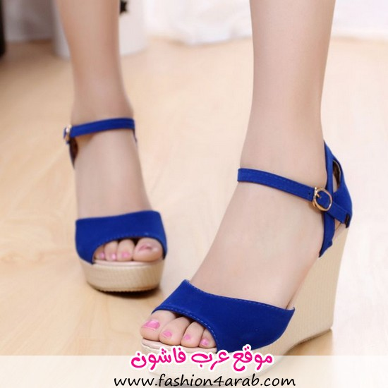 2013-strap-open-toe-wedges-high-heeled-shoes-casual-all-match-navy-blue-sandals-female-shoes