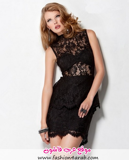 Sexy-Sheer-Short-Mini-Little-Black-Lace-Peplum-Party-Cocktail-Dress-Backless_1