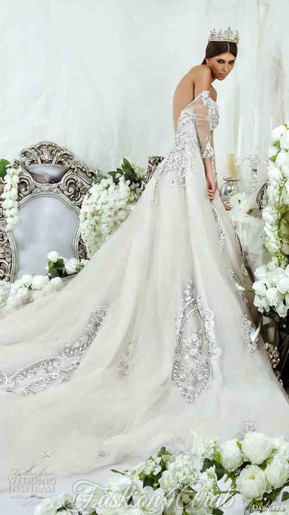 dar-sara-bridal-2016-wedding-dresses-beautiful-strapless-elegant-beaded-crystal-embroidery-open-low-back-ball-gown