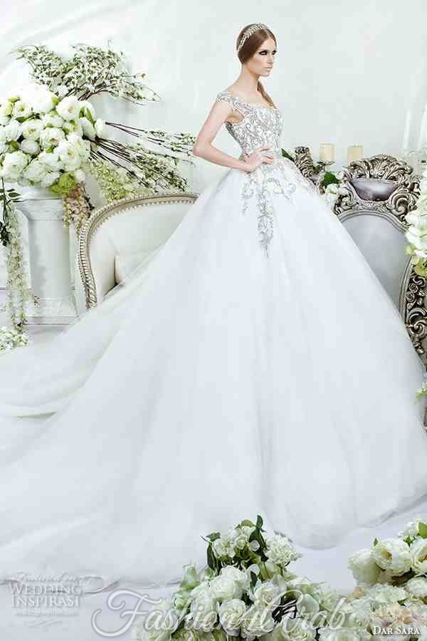dar-sara-bridal-2016-wedding-dresses-beautiful-thick-embroidered-strap-bodice-tulle-ball-gown