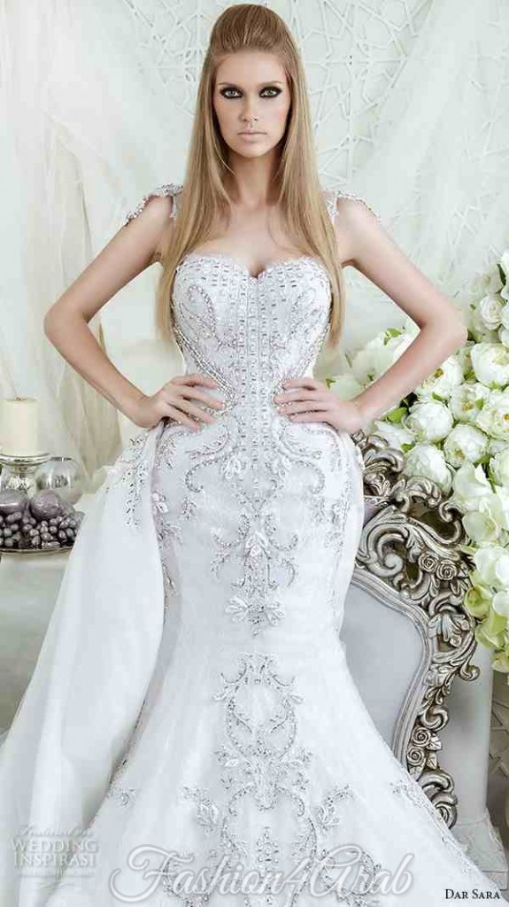 dar-sara-bridal-2016-wedding-dresses-gorgeous-mermaid-gown-fit-flare-trumpet-bustier-neckline-beaded-crystals