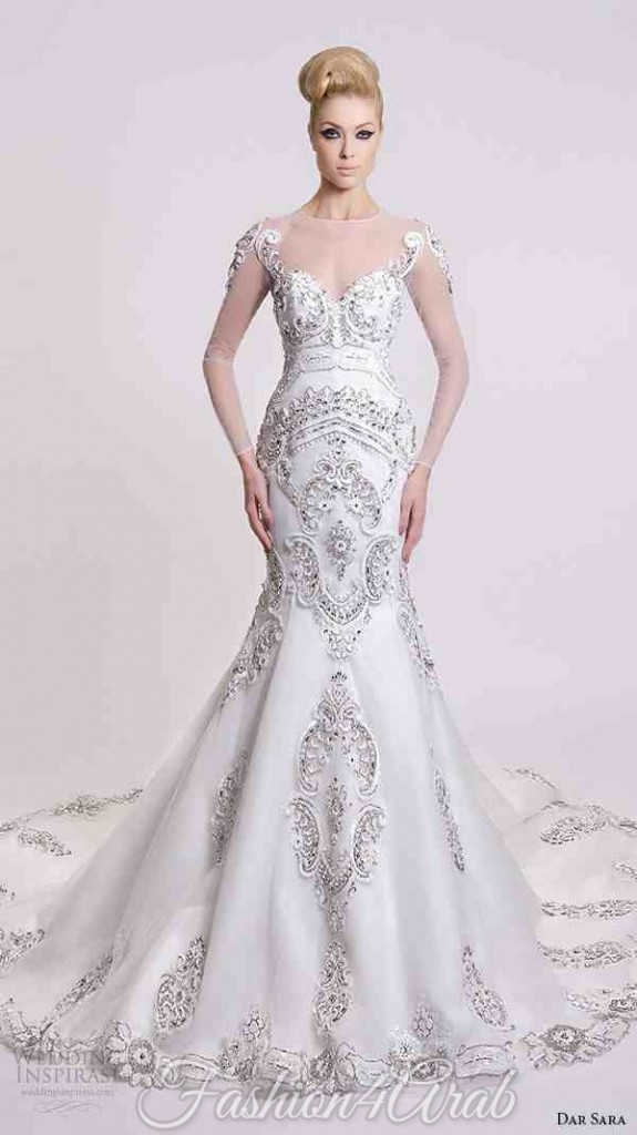 dar-sara-bridal-wedding-dresses-beautiful-fit-flare-mermaid-gown-beaded-embellishment-illusion-long-sleeves