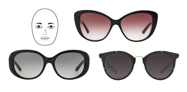 النظارات المناسبة لشكل وجهك