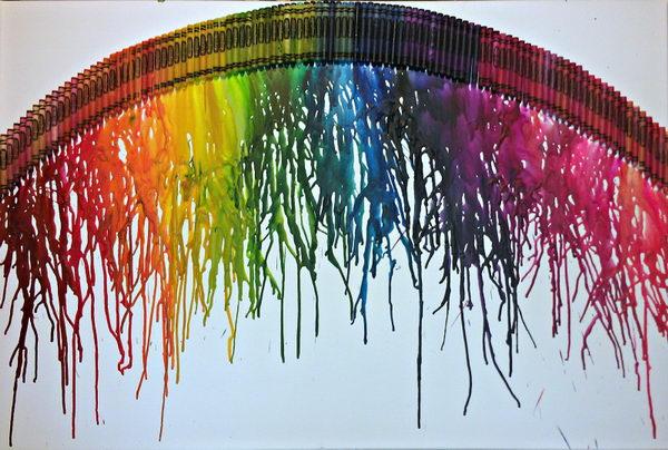 بقايا ألوان الشمع